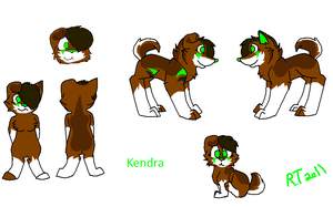 Kendra's Ref Sheet by Prince-Joey