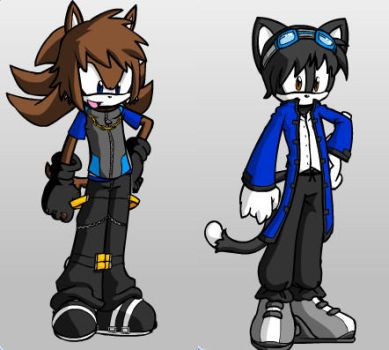 Sora the dog and Jude the cat by SkylorXX30