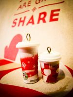Mini starbucks xmas cup 2010 by luckymarias