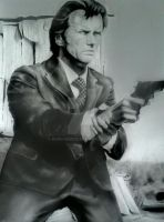 CLINT EASTWOOD DIRTY HARRY PORTRAIT by BUMCHEEKS2