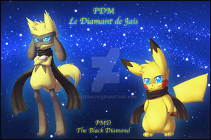 Fanfic Cover : PMD - The Black Diamond by Flitzalys