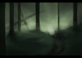 Scenery Study: Forest by heilei