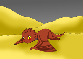 Baby Smaug by HeroHeart001