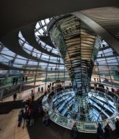 Inside reichstag dome by roman-gp