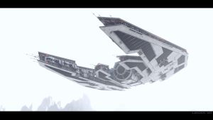 Hoth flyby by AlxFX