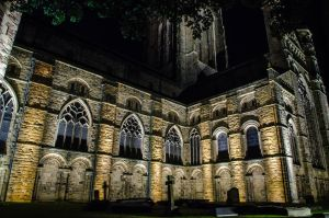 Durham Cathedral at night by DegsyJonesPhoto