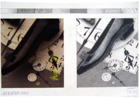 Texture : Collage Plate by Jennsam