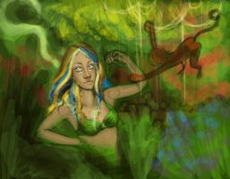 WIP - GIRL IN THE FOREST by catherinelennon