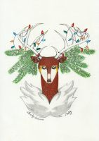 The Christmas Sawsbuck by Lovely-Autumn