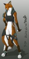 Fox Assassin :3 by HornedStorm
