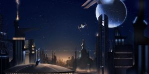 The Lights of Coruscant by x-Nekopunch-x