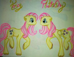 Posey and Fluttershy by RarityForever