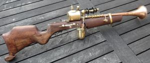 Steampunk Rifle - The Discombobulator by MartintheeDrummer