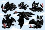 Toothless stickersheet! (1) by Mamath