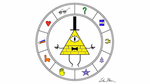 Bill cipher wheel colored by R8TED-R