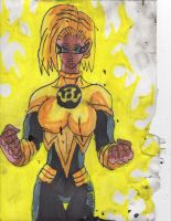 Android 18 sinestro corps by ChahlesXavier