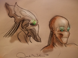 Protoss and Human Hybrid by WeisseEdelweiss