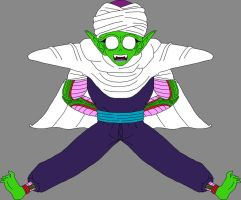 Barefoot Shocked Piccolo Jr. seeing his right foot by DragonBallFan2012