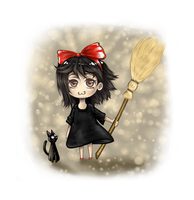 Kiki The Little Witch Chibi by Herpderpchan
