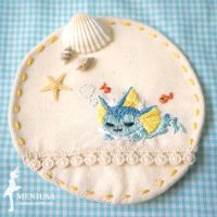 Vaporeon Embroidery Mat by sin213yee