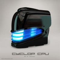 Cyclop CPU - Glossy Black Icons by DARIMAN