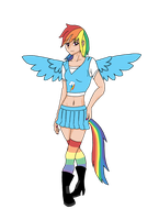 Human Rainbow Dash by DcHydra17