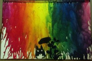 Melted Crayon Totoro by pinabear