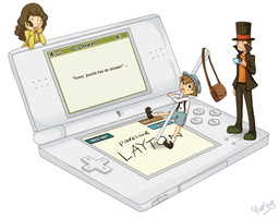 The professor Layton on DS by mayumi-yue