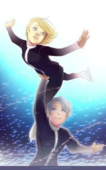 Yurio and Victor Pair Skating by skimlines