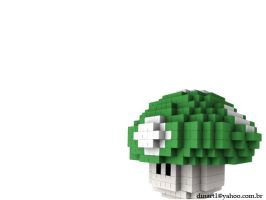 pixel modeling mushroom by BesouroSuco