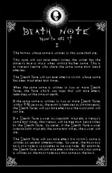 Deathnote Rules - page 1 by deathNote-club