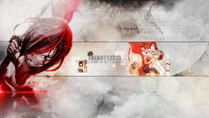 New Layout youtube 2013 - Erza by MaryMerry