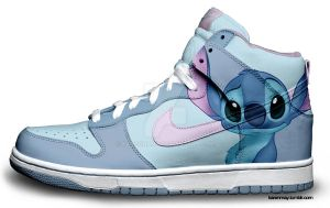 Custom Nike Dunks: Stitch by kaycunana