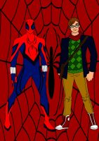 SpiderMan Year One-Spidey And Peter by Comicbookguy54321