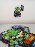 Chrono Trigger Frog showing guns bead sprite by 8bitcraft