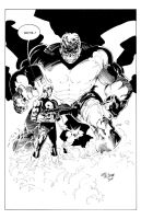 Hulk vs Punisher by Wes-StClaire