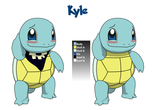 Kyle vector - color reference sheet by Xrayleader
