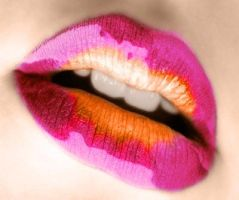 Rainbow Lips by cherrybell