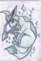 Glaceon Falling by LesFromages