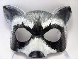 Feisty Raccoon Mask by LucyLovesLeather