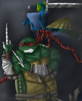 MNT Gaiden: Raph and Leo by Achrius