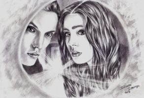 The mortal instruments, Jace and Clary by idskia-art