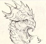 Golden Crest Dragon by E-Dowely