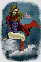 Unfinished Supergirl warmup by JOHNNEMO