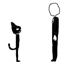 Midnight Alpha Meets Slenderman by MidnightAlpha13