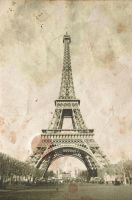Vintage Eiffel Tower by ClementineCreative