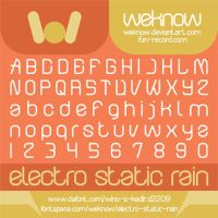 electro static rain font by weknow by weknow