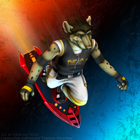 Theolis-Wolfpaw commission- Th by DarkIceWolf