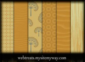 Orange Photoshop Patterns by WebTreatsETC