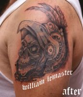 Cover-up - Aztec skull by lemaster99705
